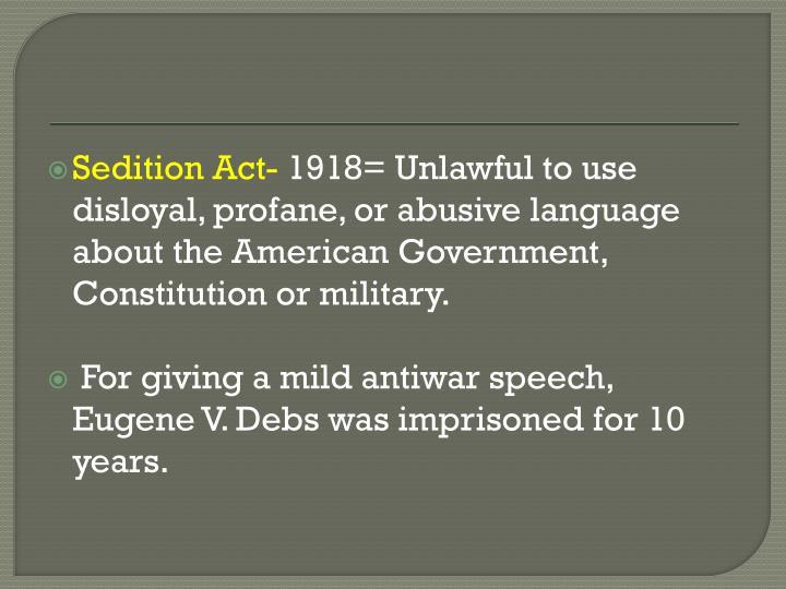Sedition Act-
