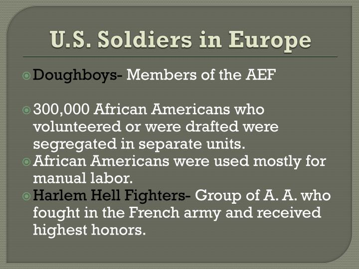 U.S. Soldiers in Europe