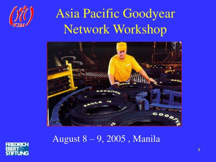 asia pacific goodyear network workshop n.