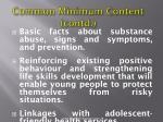 common minimum content contd