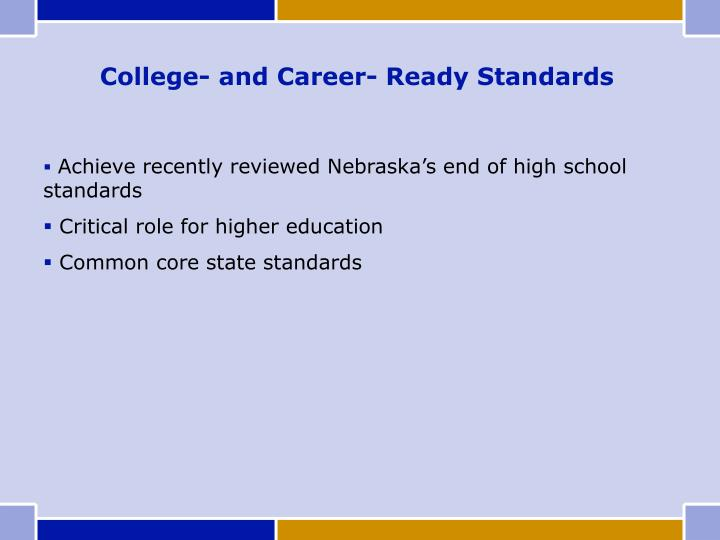 College- and Career- Ready Standards