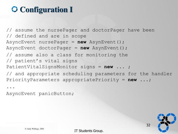 Configuration I
