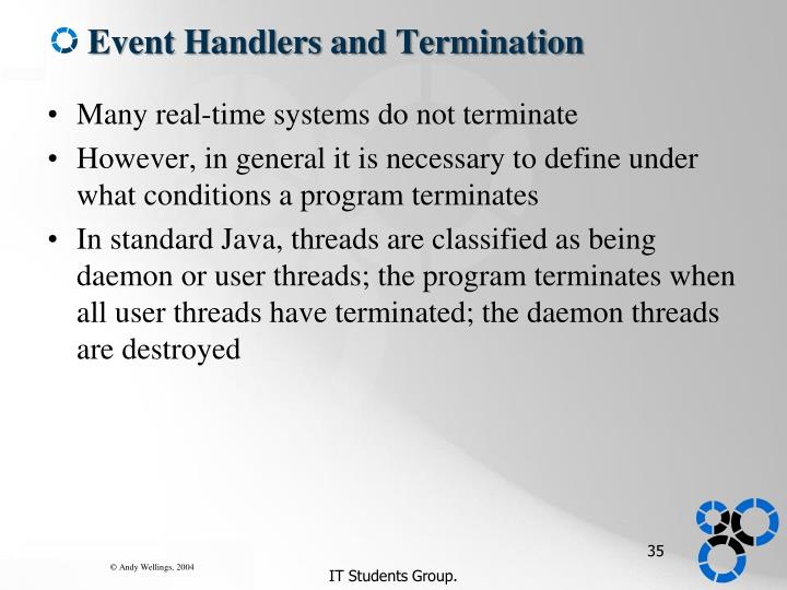 Event Handlers and Termination