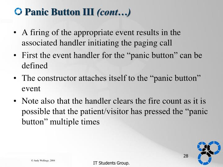 Panic Button III