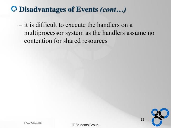 Disadvantages of Events