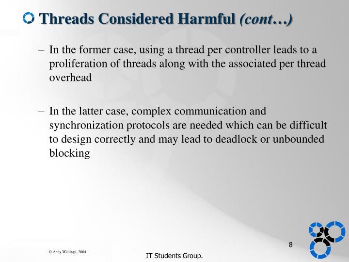 Threads Considered Harmful