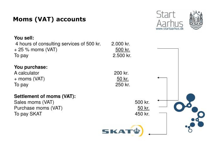 Moms (VAT) accounts