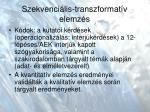 szekvenci lis transzformat v elemz s