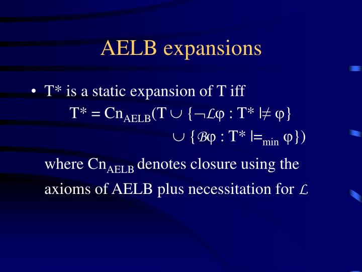 AELB expansions