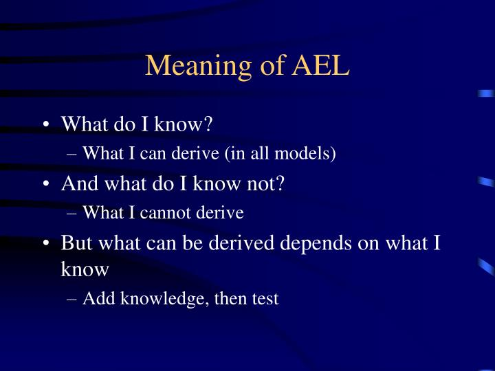 Meaning of ael
