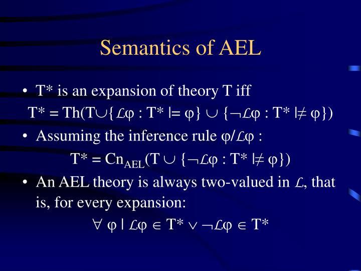 Semantics of AEL