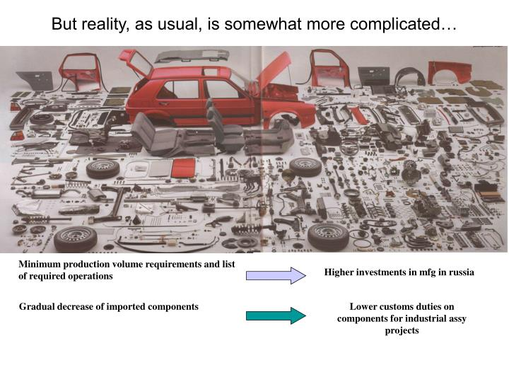 But reality, as usual, is somewhat more complicated…