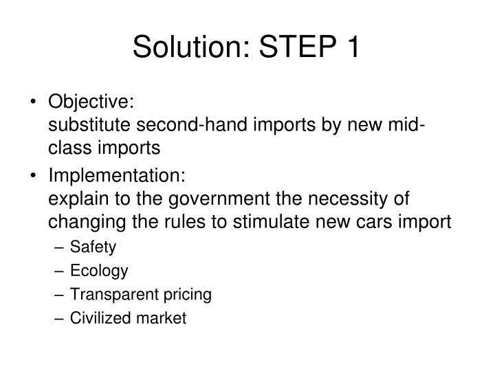 Solution: STEP 1