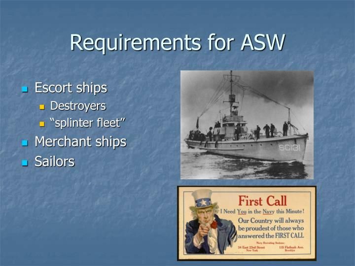 Requirements for ASW