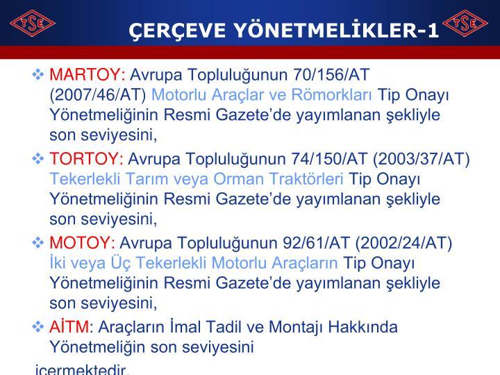 ÇERÇEVE YÖNETMELİKLER-1