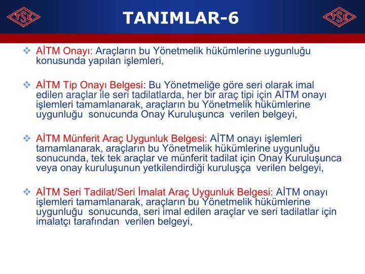 TANIMLAR-6