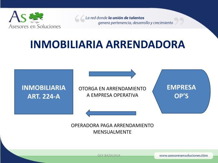 INMOBILIARIA ARRENDADORA