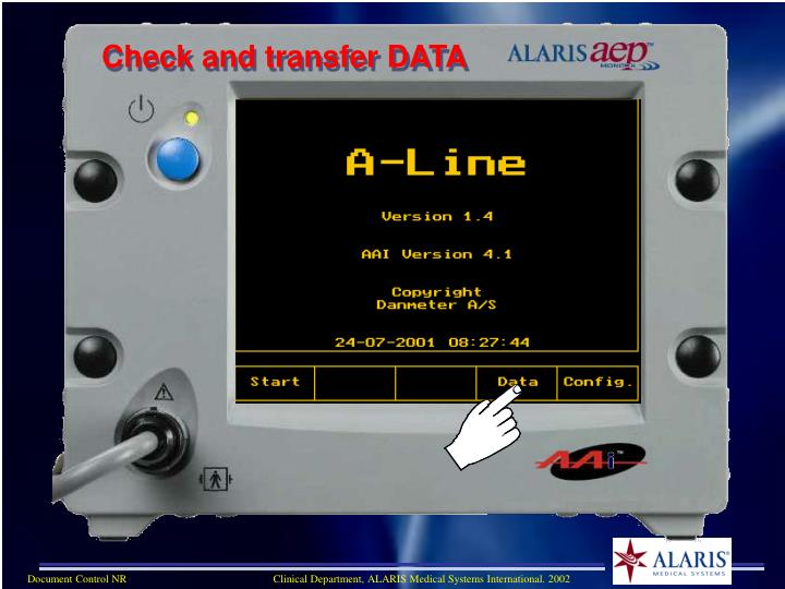 Check and transfer DATA