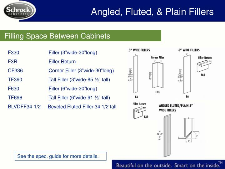 Angled, Fluted, & Plain Fillers
