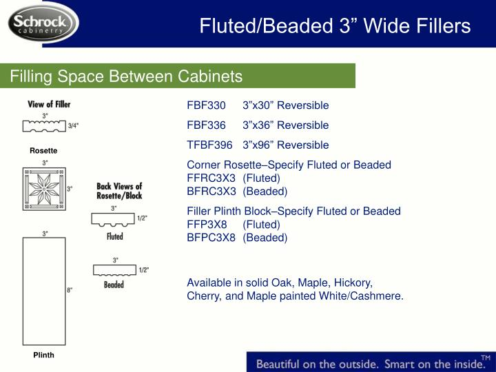 """Fluted/Beaded 3"""" Wide Fillers"""