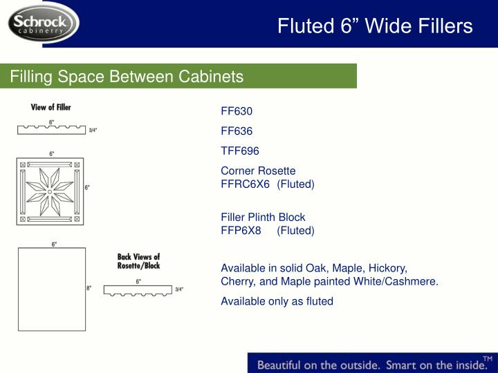 """Fluted 6"""" Wide Fillers"""