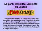 le parti marxiste l niniste du canada