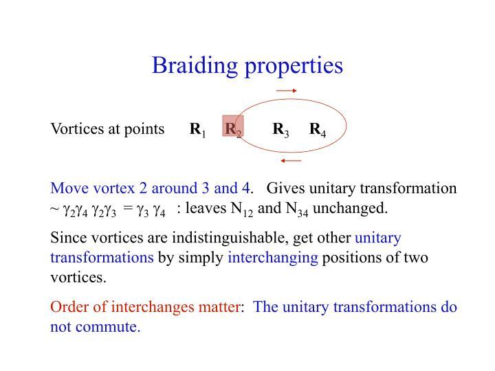 Braiding properties