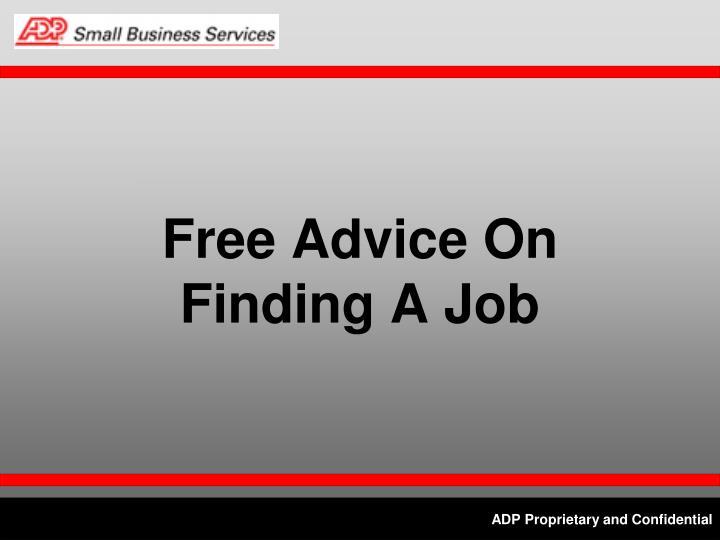 Free Advice On