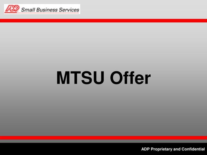 MTSU Offer