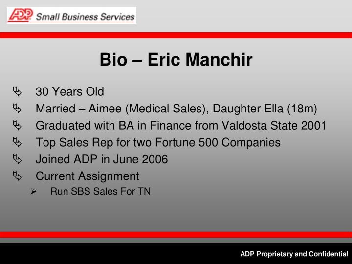 Bio – Eric Manchir