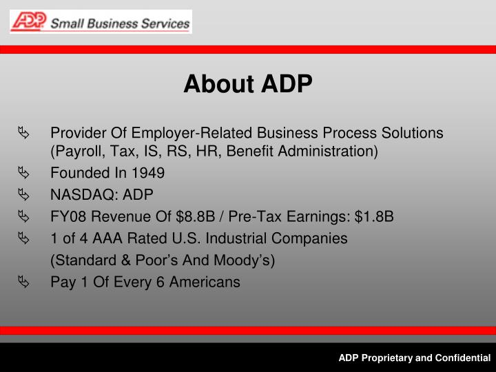 About ADP