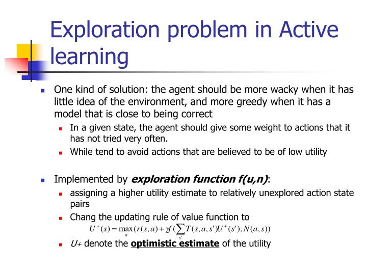 Exploration problem in Active learning