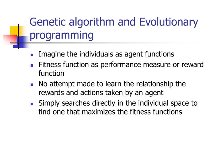 Genetic algorithm and Evolutionary programming