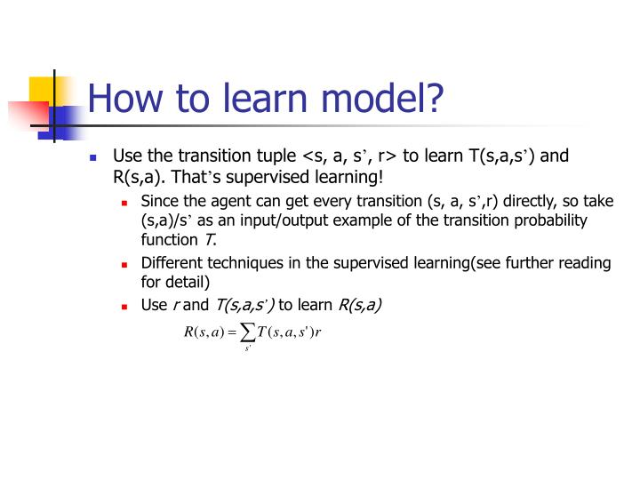 How to learn model?