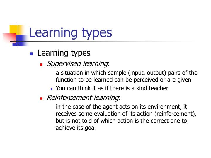 Learning types