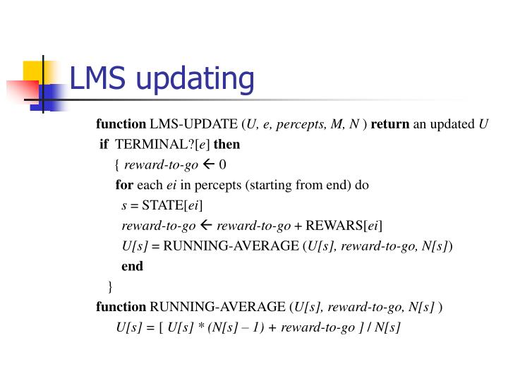 LMS updating
