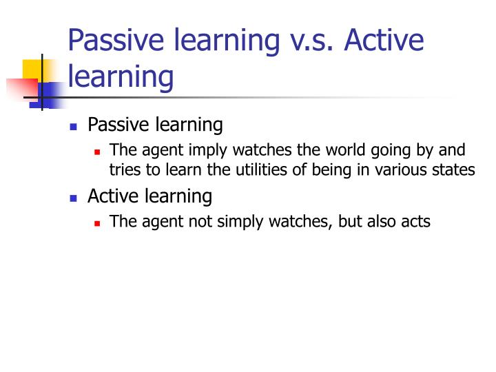 Passive learning v.s. Active learning