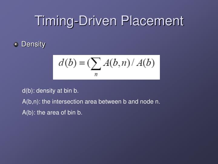 Timing-Driven Placement
