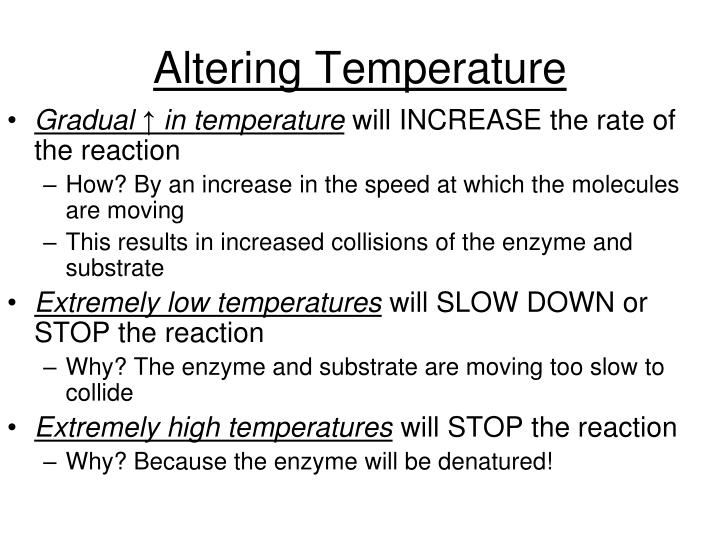 Altering Temperature