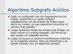 algoritmo subgrafo ac clico1