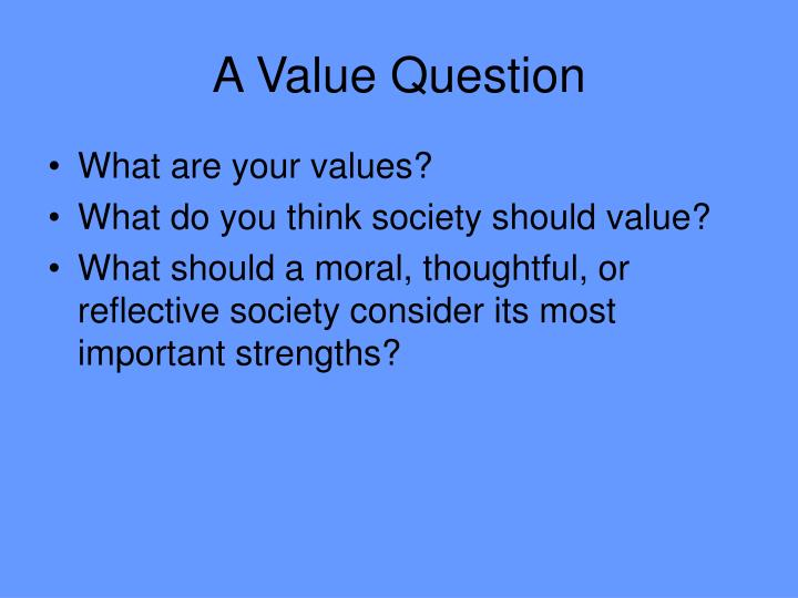 A value question