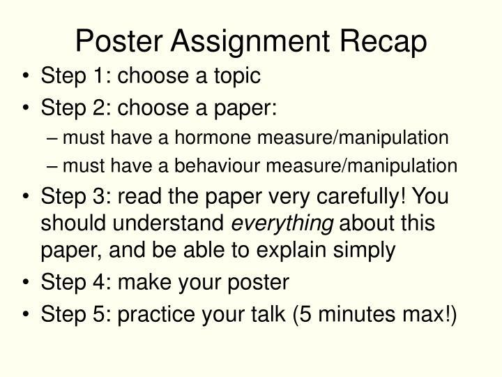 poster assignment recap n.