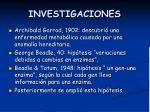 investigaciones