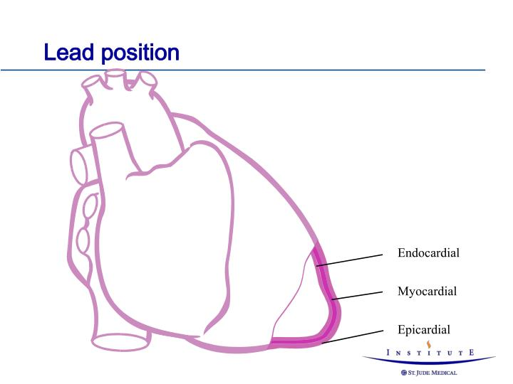 Lead position