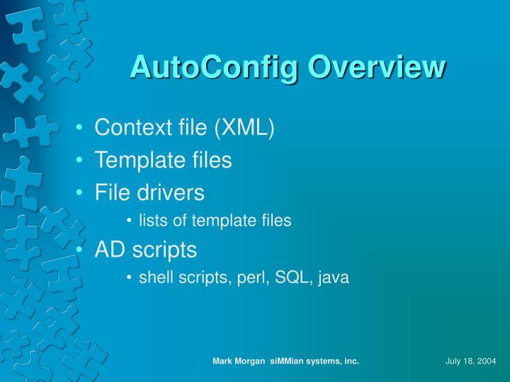 AutoConfig Overview