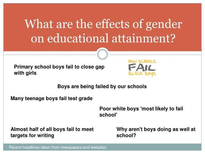 what are the effects of gender on educational attainment