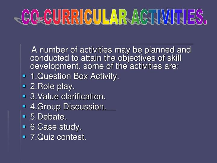 co curricular activities ppt