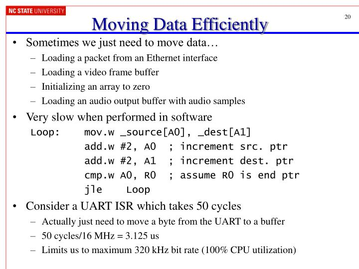 Moving Data Efficiently