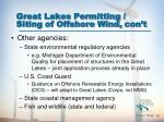 great lakes permitting siting of offshore wind con t