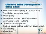 offshore wind development state laws